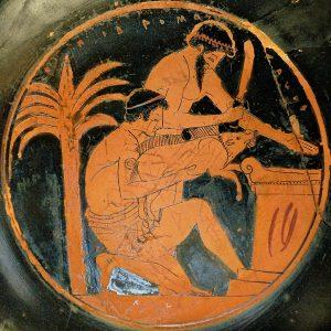 Greeks sacrificing a boar