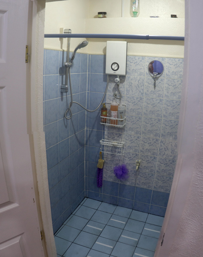 The shower room...